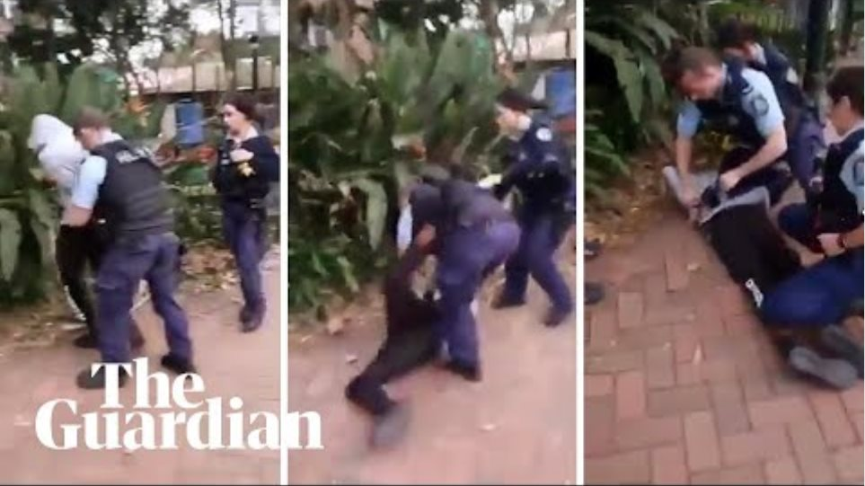 Australian police officer slams Indigenous teen to pavement during arrest in Sydney