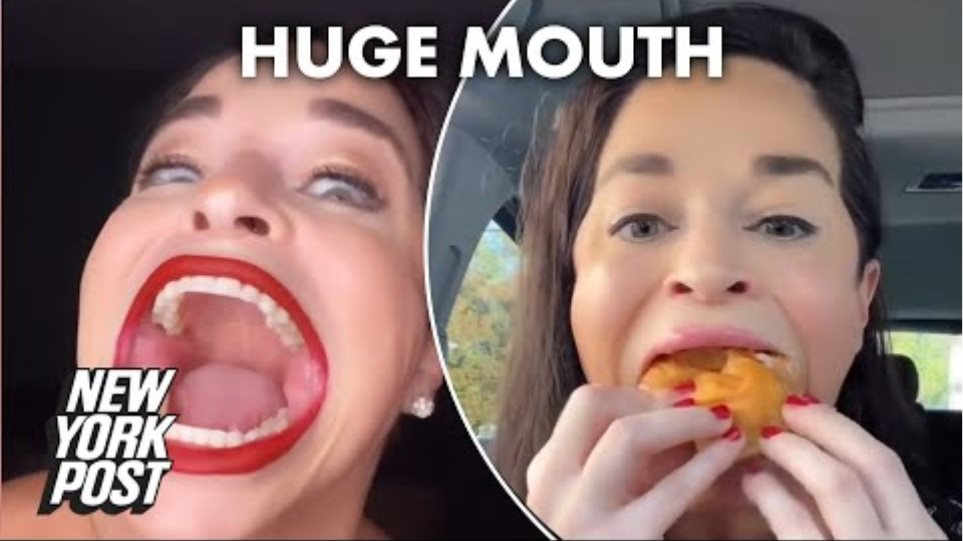 Woman reveals how her 'huge mouth' made her TikTok famous | New York Post