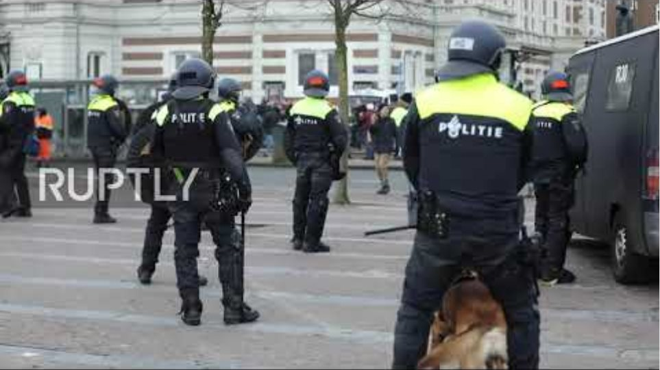 Netherlands: Dozens arrested as police clash with anti-lockdown protesters in Amsterdam