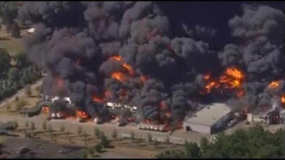 Chemical plant catches fire in Rockton, Illinois