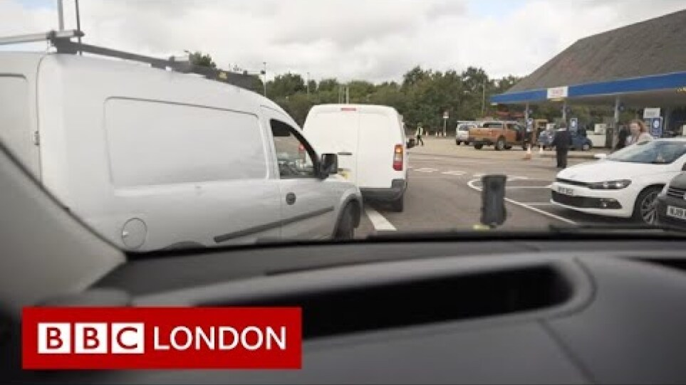 UK fuel shortage: 'Ludicrous' panic-buyer empties water bottles to fill with petrol