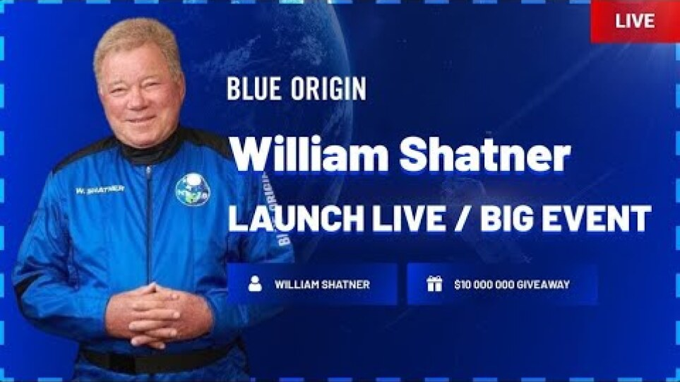 Blue Origin - NS-18 New Shepard Space Flight Mission with William Shatner On-Board | Live Launch